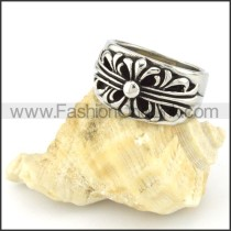 Stainless Steel Unique Cross Ring r000551