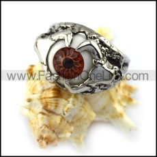 Evil Eye Ring with Brown Eyeball r004535