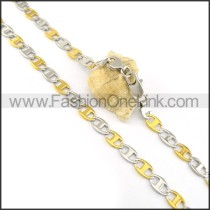 Exquisite Two Tone Plated Necklace n000606