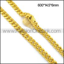 Hot Selling Interlocking Plated Necklace n001089