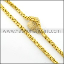 Beautiful Golden Plated Necklace     n000398