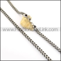 Hot Selling Silver Stamping Necklace n000658