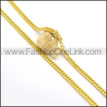 Exquisite Golden Plated Necklace n000693