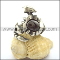Vintage Stone Stainless Steel  Ring r002327