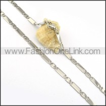 Chic Silver Plated Necklace    n000301