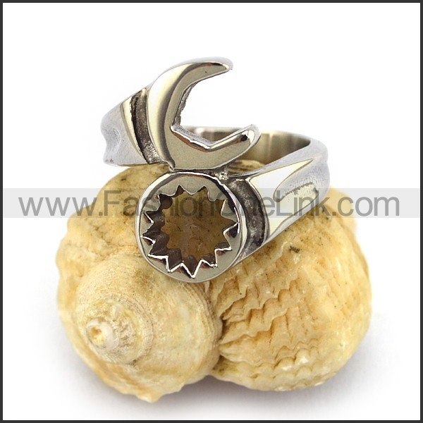 Stainless Steel Biker  Ring r003669