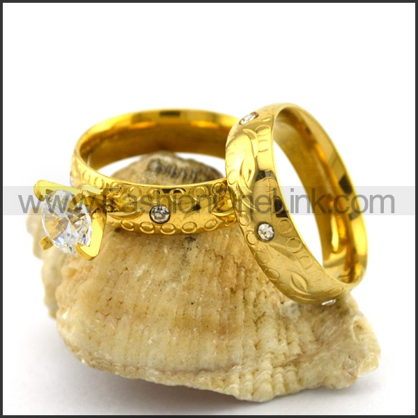 Exquisite Stainless Steel Couple Ring  r003075
