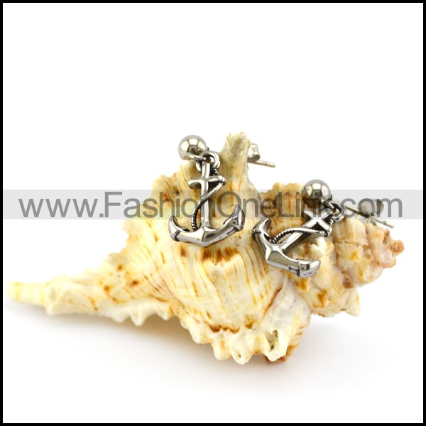 Stainless Steel Anchor Ear Stud e001357
