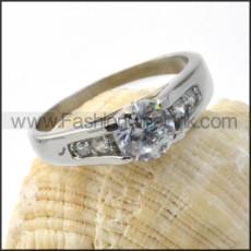Stainless Steel luminous Zircon Wedding Ring  r000028