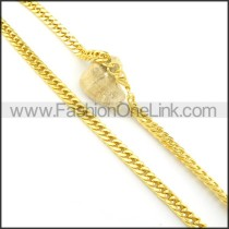 Succinct Golden Chain Plated Necklace n000572