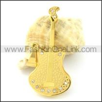 Lovely Guitar Stainless Steel Pendant p000965