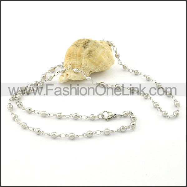 Silver Beads Small Chain     n000382