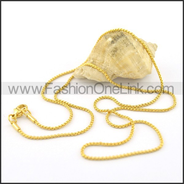 Exquisite Golden Plated Necklace n000654