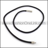 Rubber Necklace with Silver Hasp n001206