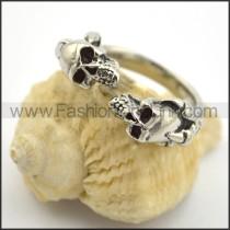 Double Skulls Ring r001698
