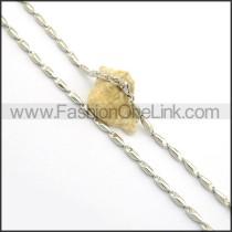 Succinct Silver Small Chain n000939