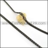 Elegant Black Plated Necklace n000612