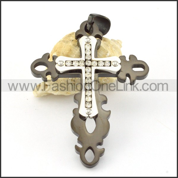 Delicate Stainless Steel Cross Pendant p000568