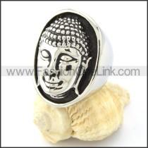 Stainless Steel Buddha Ring r000654