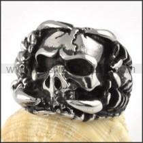 Wicked Stainless Steel Skull Ring     r000090