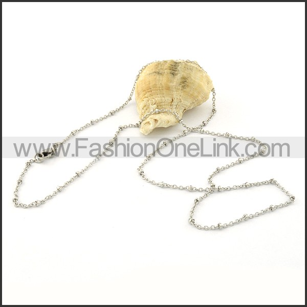 Silver Beads Small Chain     n000379