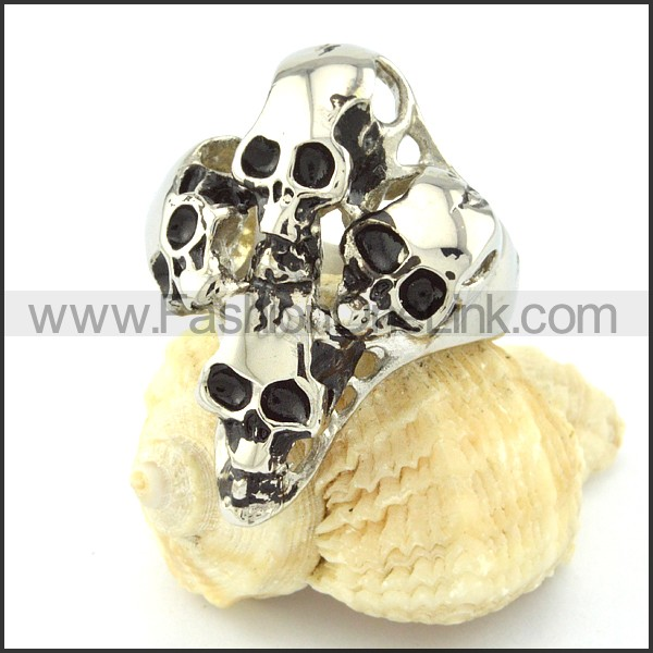 Stainless Steel Fashion Skull Ring r000681