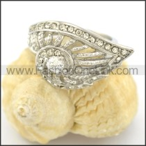 Exquisite Stone Stainless Steel Ring r001614