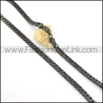 High Quality Black Plated Necklace  n000513