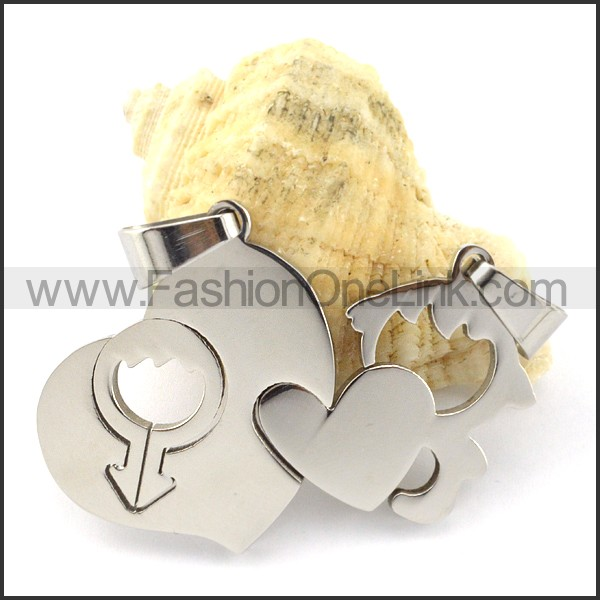 Exquisite Stainless Steel Couple Pendant  p000946