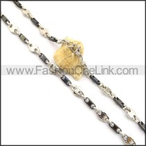 Exquisite Black and Silver Plated Necklace n000832