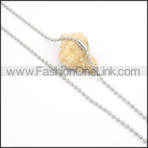 Succinct Silver Small Chain    n000128