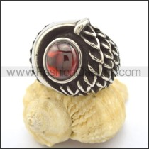 Vintage Stone Stainless Steel  Ring r002328