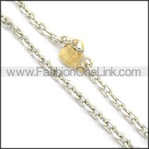 Exquisite Stainless Steel Stamping Necklace n000954