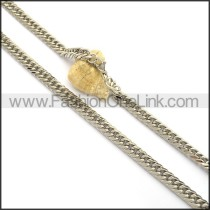 Graceful Interlocking Stamping Necklace n001003