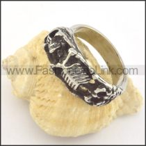 Stainless Steel Human Skeleton Ring r001348