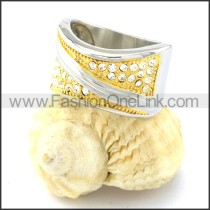 316L Fashion Plating Ring r000784