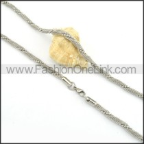 Silver Twisted Rope Small Chains n000140