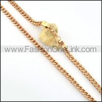 Rose Gold Plated Necklace           n000224