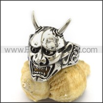 Wicke Stainless Steel Skull Ring  r003045