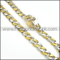 Decorous Two Tone Plated Necklace   n000131