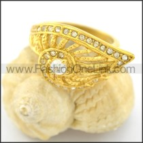 Exquisite Stone Stainless Steel Ring r001615