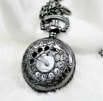 Gun Metal Plating Pocket Watch Chain PW000041
