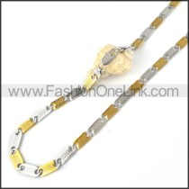 Two Tone Plated Necklace     n000061