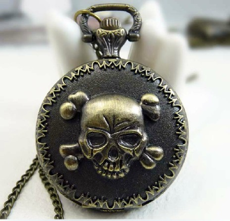 Vintage Skull Pocket Watch Chain PW000106