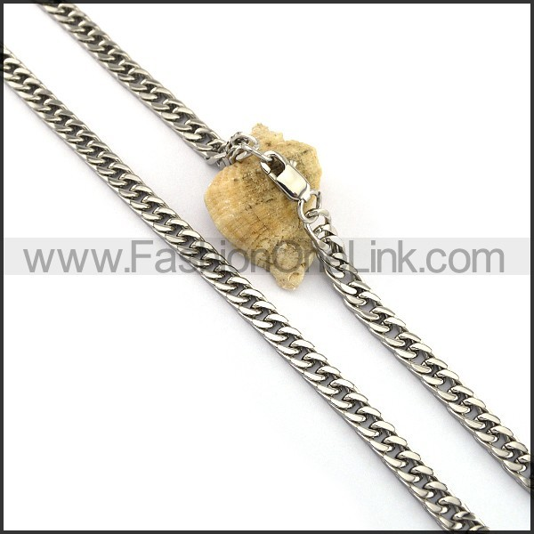 Succinct Stamping Necklace n001072