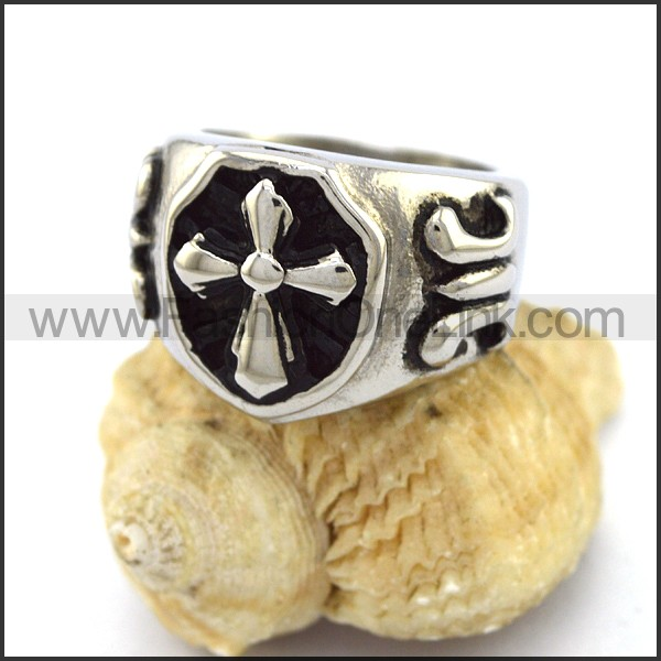 Stainless Steel Cross  Ring  r003374