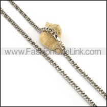 Succinct Stamping Necklace n001069