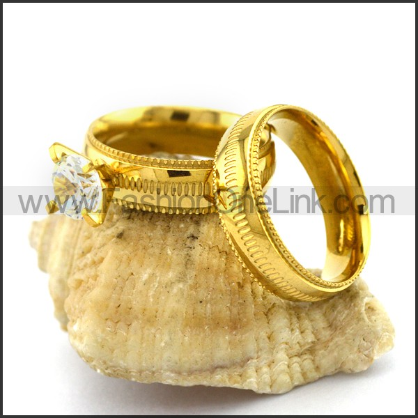 Graceful Stainless Steel Couple Rings  r002980