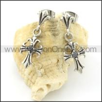Elegant Stainless Steel Stone Earrings    e000657