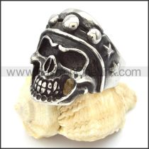 Stainless Steel Punk Style Skull Ring r000316